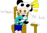 Panda wants my cereal!