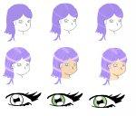 Hair, skin, and eye tutorial (colour)