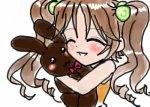 girl + bunny