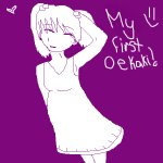My first oekaki; me!! :)