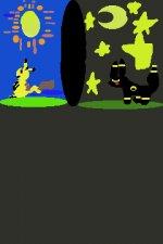 pikachu(Day) Umbreon(Night)