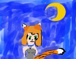 Foxgirl under tha Moon