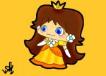 My akwardly bigheaded chibified princess daisy