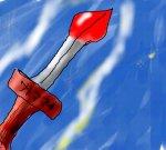 a sword.....