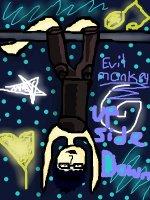 evil_monkey  UP SIDE DOWN!!!