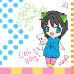 HAPPY LATE BIRTHDAY CIEL_KITTY!! >_