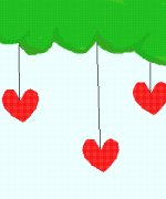 Hanging Hearts♥