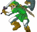 The hero of time: Link